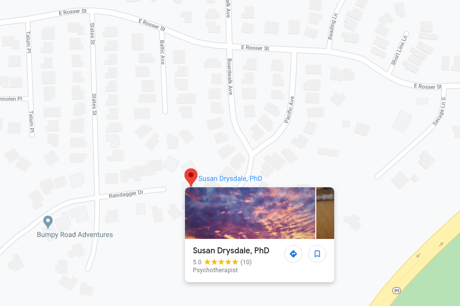 Google Maps location for Dr. Susan Drysdale